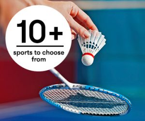 10 + sports to choose from