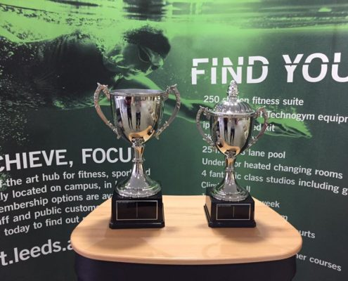 University of Leeds Sports trophies