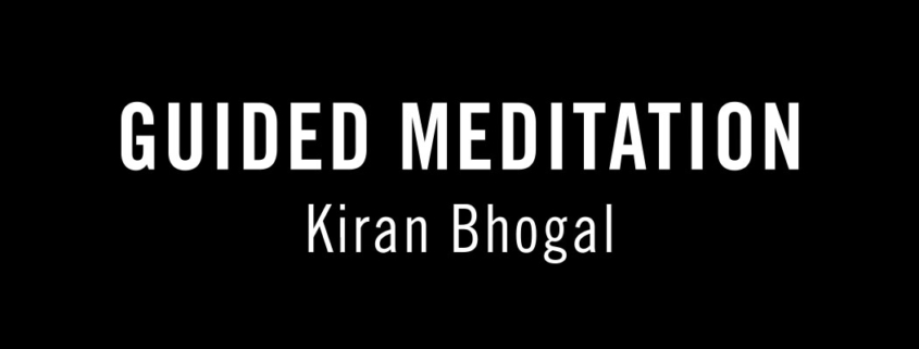 Guided Meditation led by Kiran Bhogal graphic